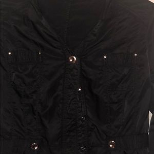 WHBM black lightweight jacket silver buttons